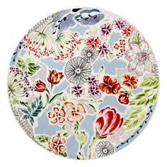 Gien Flora Cake Platter