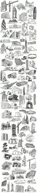 XXI Architecture  Poster commisioned by Fundacja Bęc Zmiana