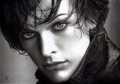 Olga Melamory Larionova, aka FairyARTos at dA. is a well known graphite artist from Russia.