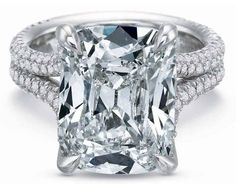 #Jewelry Diamond Split Shank and Gallery Engagement Ring