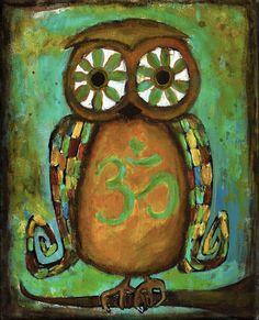 owl art om symbol from rosiluna