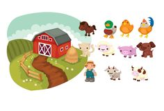 Farm animals vector pack vector animals at farm vectorvice. Animal Activities, Toddler Activities, Animal Crafts For Kids, Art For Kids, Animal Sketches, Animal Drawings, Animals Vector, Farm Animals, Funny Animals