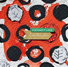 1 Año de Collage Feliz ::: TELAS Y RETALES. mix media. art journal. collage. rosa verdosa