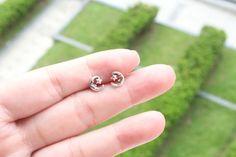 Sterling Silver Moon and Star Stud Earring Silver by JCoJewellery