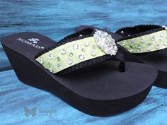 Women's Bling Flip Flops Summer Flip Flops by tammydeedesigns