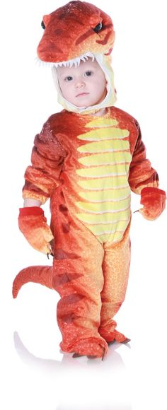 T-Rex Dinosaur Halloween Costume is soft and plush - sure to keep them warm! Shop www.DinosaurToysSuperstore.com