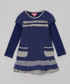 Blue Star Layered Dress - Toddler & Girls | Daily deals for moms, babies and kids