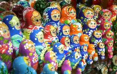 Russian Nesting Dolls: Russian Nesting Dolls on sale for 180 crowns in a shop in Prauge, Czech Republic. We went to Prague for my sister's wedding and that was one of the most amazing cities I have been to. #travel