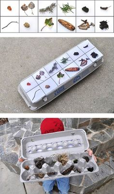 Kids | Leuke 'schatkist' voor een speurtocht met de kids in de herfstvakantie of voor een feestje. Door MinkeS