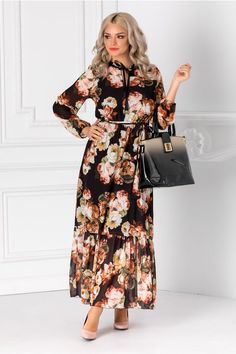 Rochii cu Imprimeuri Coats For Women, Dresses With Sleeves, Long Sleeve, Floral, Outfits, Fashion, Girls Coats, Moda, Suits