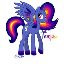 temper is a sweet pony that temper depends on her attidude Mlp d7f82975ab18