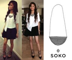 The beautiful and talented #Zendaya wearing our Maasai Half Moon Pendant necklace yesterday to her Access Hollywood appearance! Get her look at shopsoko.com - 21% off with the promo code PRESUMMER14 #sokostyle #sokolove