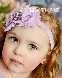 Lavender baby headband baby headbands baby girl by ThinkPinkBows, $7.95