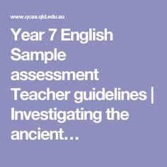 Year  History Sample Assessment  Investigating The Ancient Past