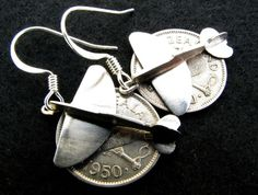 Trench Art Spitfire.  Earrings Fighter Aircraft, Trench, Earrings, Silver, Handmade, Art, Ear Rings, Art Background, Stud Earrings