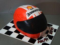 Racing Helmet Cake Cake by LauraSweetCake