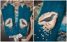 bird gloves facebook.com/AnuKaelussooDesign