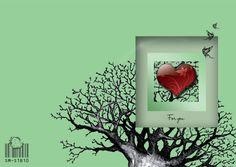 Valentine card Red Heart by marinaalex on Etsy, $6.00  #ibhandmade