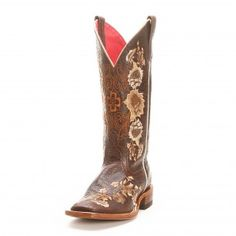 Macie Bean Brown Floral Embroidered Cowgirl Boots - Bandana Boot Sale Price $119.99