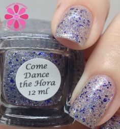 Colors By Llarowe Come Dance The Hora Swatch - Cosmetic Sanctuary; Brand: Colors By Llarowe, Name: Come Dance The Hora, Collection: Winter 2013, Color: Multi, Shade: Bright, Finish: Glitter Top Coat, Type: Glitter