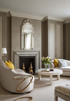 Taupe and white....with gold