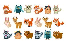 Forest animals vector illustration by TopVectors on Creative Market