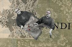 Collage by Olga Lupi / postcard