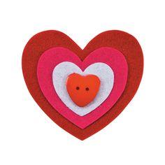 Heart Pin Craft Kit - OrientalTrading.com