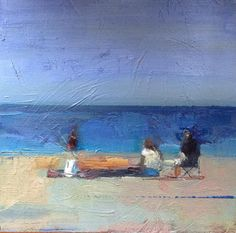 "#Beach Lunch""   8""x8""  oil on board  At Spindrift Gallery holiday show, Opens Nov. 24, 25, noon-4pm."