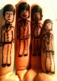 The Beatles fingers
