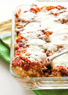 Faux Lasagna - Easy lasagna recipe. great for large crowds and freezing ahead of time.