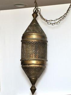 1stdibs.com | Moroccan Brass Lantern, Vintage $700