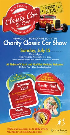 NewRoads Big Brothers Big Sisters Charity Classic Car Show Kia - Classic car show york