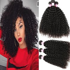 Miss GAGA Peruvian Virgin Human Hair Weave Kinky Curly Wave 3 Bundles Unprocessed Peruvian Hair Extensions Natural Color Can Be Dyed and Bleached Tangle Free 14 Wet And Wavy Hair, Kinky Curly Hair, Curly Hair Cuts, Curly Hair Styles, Dry Hair, Curly Human Hair Extensions, Remy Human Hair, Long Weave Hairstyles, Cool Hairstyles
