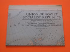 A Vintage Map- 1944 National Geographic Map -Union of Soviet Socialist Republics by ScrapPantry, $14.99 USD