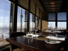Fine dining on the 54th floor of the TD Bank tower.