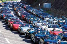Filed under: Convertible , Japan , Mazda Mazda Miata Anniversary Meet - Click above for high-res image gallery Mazda celebrated the Car Guy Memes, Mazda Mx5, Convertible, Mazda Roadster, Thing 1, Pride Parade, Japan, Life Is An Adventure, Hot Cars