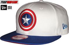 New Era 9Fifty Character White Top Captain America Snapback Cap