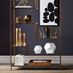 Gold Ribbons Glass Vase | Understated geometrics and rich metallics add an elegant flourish to the tabletop - or anywhere.