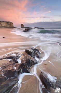 Four Mile Beach sunset, Santa Cruz, California
