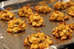 Cabbage Pakoda (baked)...I made these.  They are good but you need to make sure there is enough oil to keep them from drying out and the centers cooked.