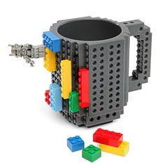 ThinkGeek :: Build-On Brick Mug