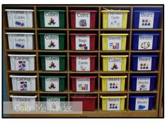 FREE Manipulative Labels for your Cubby