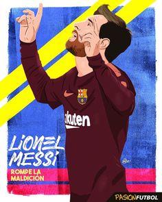 """5,083 Me gusta, 42 comentarios - Pasión Fútbol (@pasionfutbol) en Instagram: """"Rompe maldiciones. Rompe estadísticas. Rompe récords. Rompe todo. #Messi #futbol #soccer…"""""""