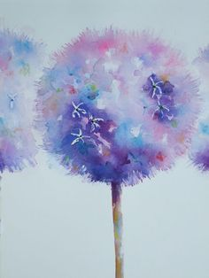 Alluring Alliums - Gallery - Elisabeth Carolan Art - Artist in watercolour, acrylic and mixed media - Woking Surrey