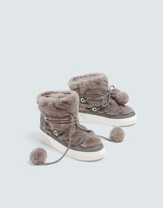 c8ddcced03 Bottines winter grises style urbain - pull bear