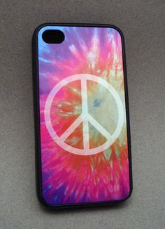 iPhone 4/4s Silicone Case  TieDye Peace Sign by 107graphics, $18.00