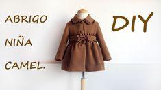 Como hacer un abrigo de niña camel, diseños infantiles muy actuales siguiendo mi tutorial en patronesmujer.com, entra y verás la cantidad de diseños de niña ...