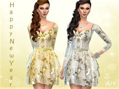 A precious dress for the many parties in the new year :D Found in TSR Category 'Sims 4 Female Young Adult Party'