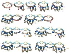 Free pattern for beautiful beaded necklace Emerald City.  U need:    pearl beads 6 mm    faceted beads 4 mm    seed beads 100 – 110  - See more at: http://beadsmagic.com/?p=2741#more-2741